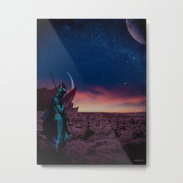 Guardian of the Desert Metal Print