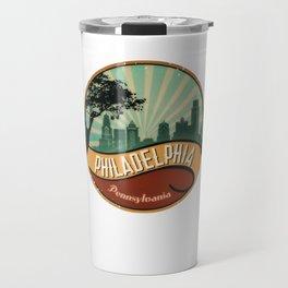 Philadelphia City Skyline Pennsylvania Retro Vintage Design Travel Mug