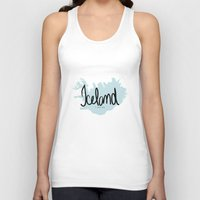 iceland Tank Tops featuring Iceland love by Gabriela Fuente