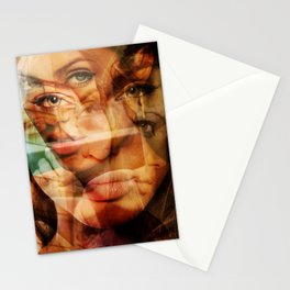 faces of Angelina Jolie3 Stationery Cards