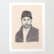 Denzel Washington Portrait Art Print