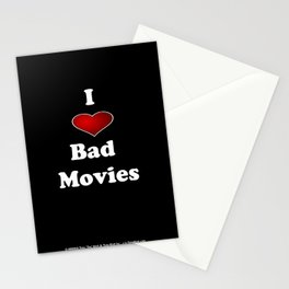 I (Love/Heart) Bad Movies print by Tex Watt Stationery Cards