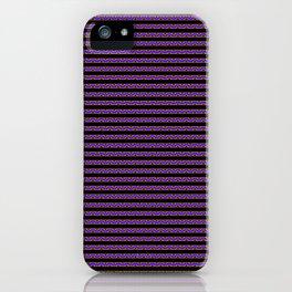 Purple Stripes iPhone Case