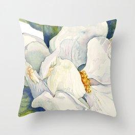 Magnolia Full Bloom Throw Pillow