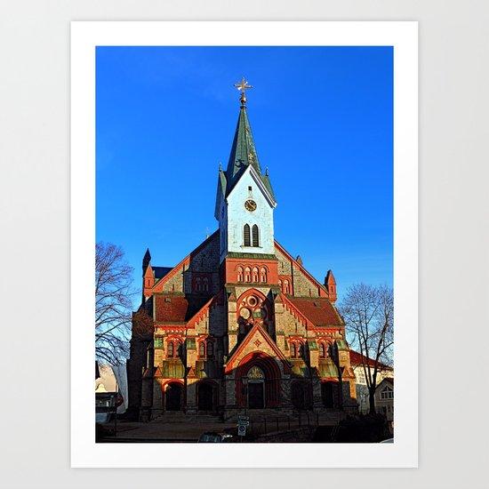 The village church of Aigen | architectural photography Art Print