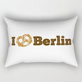 I love Berlin - Brown Pretzel Rectangular Pillow