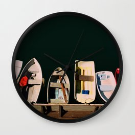 Monterey Boats Wall Clock