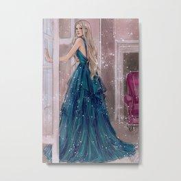 Chloé - Blue Metal Print