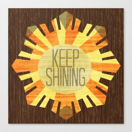 Baby Keep Shining Canvas Print