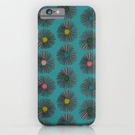 Retro Christmas Turquoise  iPhone Case