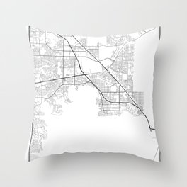 Minimal City Maps - Map Of Henderson, Nevada, United States Throw Pillow