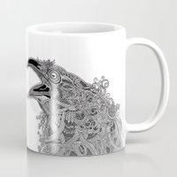 raven Mugs featuring Raven by Olya Goloveshkina