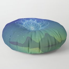 Sacred Geometry (Cosmic Connection) Floor Pillow