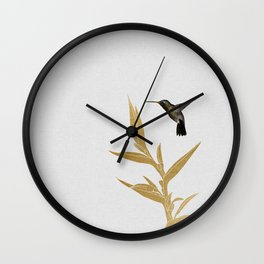 Hummingbird & Flower II Wall Clock