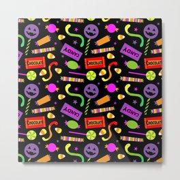 Happy Halloween Candy Metal Print