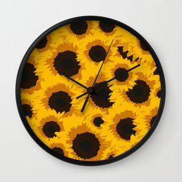 Sunflower Love Wall Clock