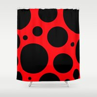 bug Shower Curtains featuring Lady Bug by Naked N Pieces