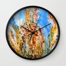 Rhaphsody modern  abstract art Wall Clock
