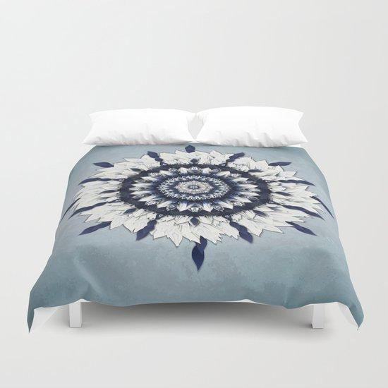 Blue Sash Mandala Duvet Cover