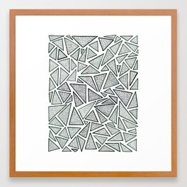 triangles (deux) Framed Art Print