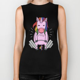 Weightlifting Unicorn | Fitness Training Biker Tank