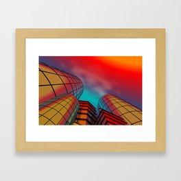 city -w4- Framed Art Print