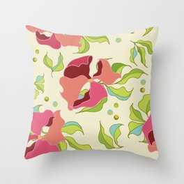 Power Flowers – Spring Throw Pillow