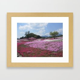 Flower Hills Japan Framed Art Print