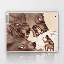 Taking the Dog for a Walk Laptop & iPad Skin