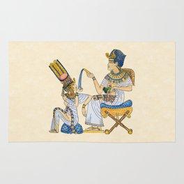 King Tut and Queen Ankhesenamun Rug