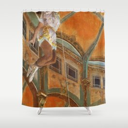 Miss La La At The Cirque Fernando 1879 By Edgar Degas | Reproduction | Famous French Painter Shower Curtain