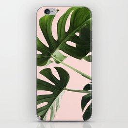 Monstera x Pink iPhone Skin