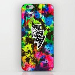 Neon Lightning iPhone Skin