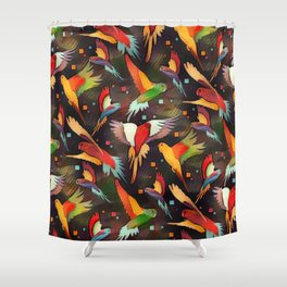 Fluttering Wings of Color Shower Curtain