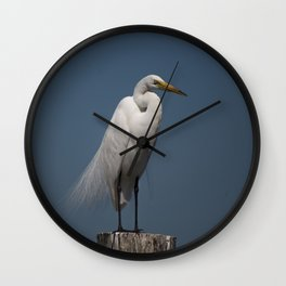 Great White Egret  Wall Clock