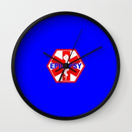 MEDICAL ALERT Epileptic SEIZURES Identification tag Wall Clock