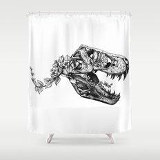 Jurassic Bloom - The Rex.  Shower Curtain