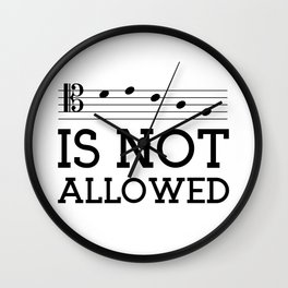 Decaf is not allowed (tenor version) Wall Clock