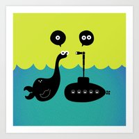 submarine Art Prints featuring Submarine by Michael Goodson