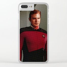 James Tiberius Kirk in TNG uniform Clear iPhone Case