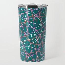 Geometry and math abstract pattern Travel Mug
