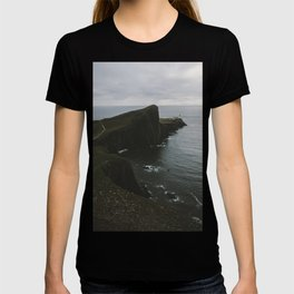 Neist Point Lighthouse at the Atlantic Ocean - Landscape Photography T-shirt
