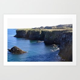 Cliffs of Norway Art Print