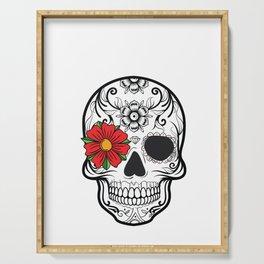 Day of the Dead Skull graphic Calavera Cinco de Mayo design Serving Tray