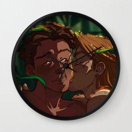 Late Summer Kisses Wall Clock