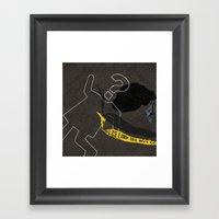 Crime. Question series Framed Art Print