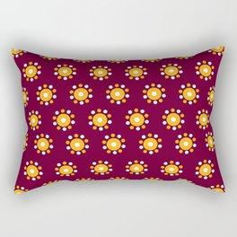 Snazzy Seminoles - Garnet & Gold FSU Print Rectangular Pillow