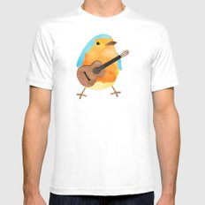 music bird White Mens Fitted Tee SMALL