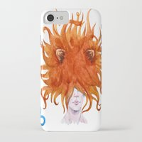 leo iPhone & iPod Cases featuring Leo by Aloke Design