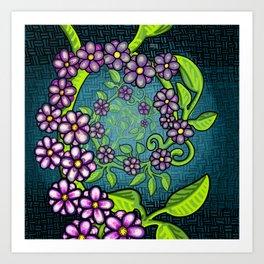 Spiral Flower Vine Art Print